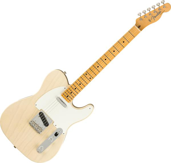 Guitare électrique solid body Fender Custom Shop Vintage Custom 1958 Top-Load Telecaster - Nos aged white blonde