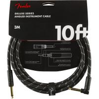 Câble Fender Deluxe Instrument Cable, Straight/Angle, 10ft - Black Tweed