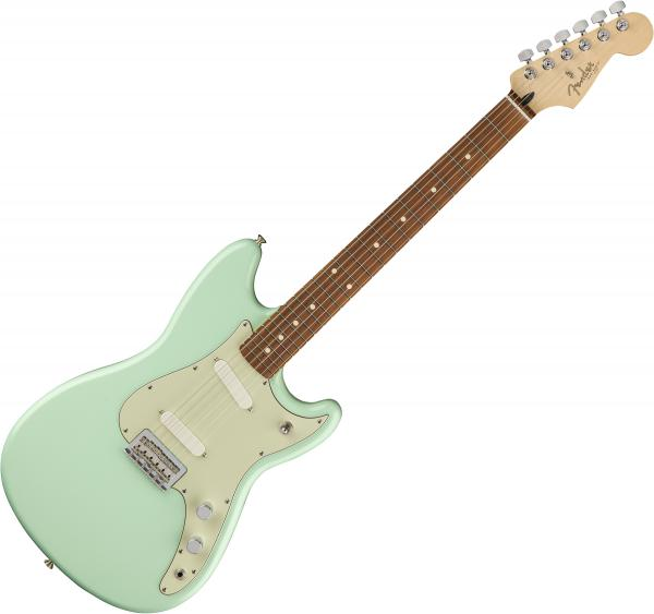 Guitare électrique solid body Fender Player Duo Sonic (MEX, PF) - Seafoam green