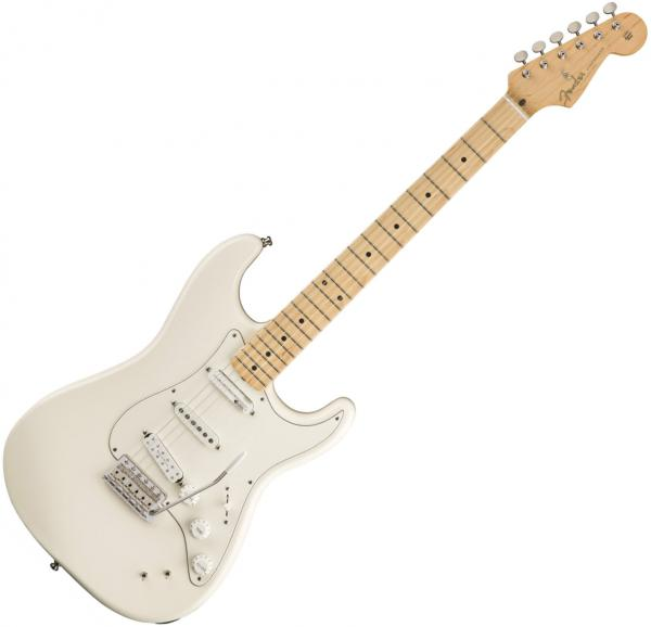 Guitare électrique solid body Fender EOB Sustainer Stratocaster (MEX, MN) - Olympic white