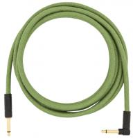 Câble Fender Festival Pure Hemp Instrument Cable, Straight/Angle, 10ft - Green