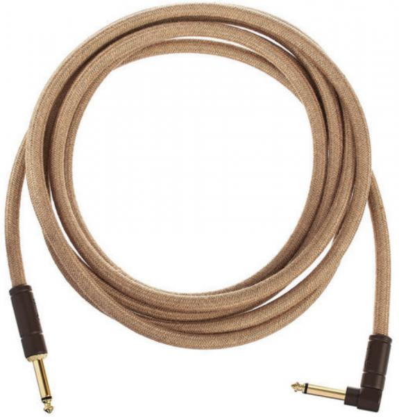 Câble Fender Festival Pure Hemp Instrument Cable, Straight/Angle, 10ft - Natural