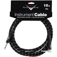 Câble Fender Custom Shop Instrument Cable Black Tweed - Angle 3m