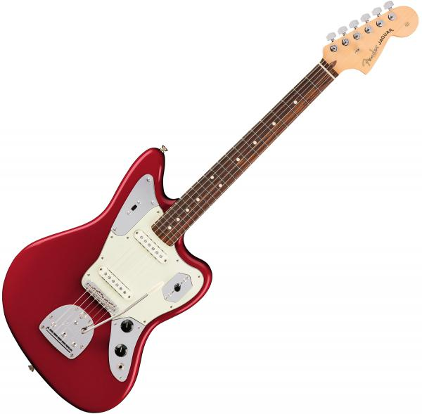 Guitare électrique solid body Fender American Professional Jaguar (USA, RW) - Candy apple red