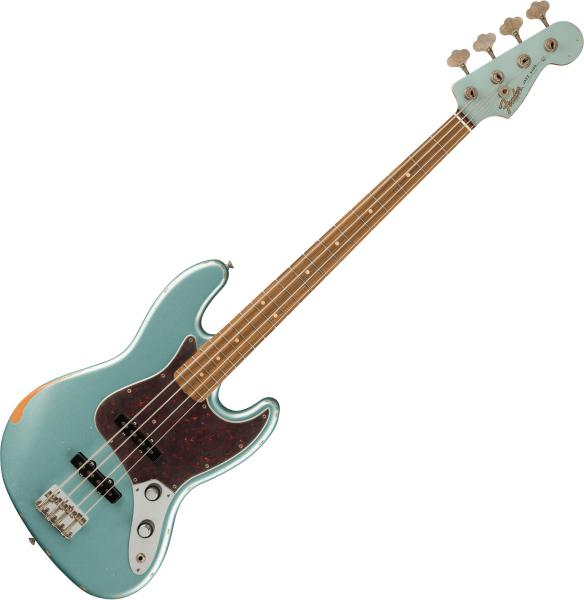 Basse électrique solid body Fender 60th Anniversary Roadworn '60s Jazz Bass (MEX, PF) - firemist silver
