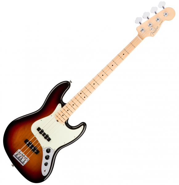 Basse électrique solid body Fender American Professional Jazz Bass  (USA, MN) - 3 tone sunburst