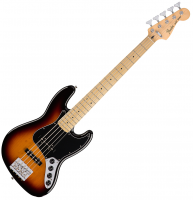 Basse électrique solid body Fender Deluxe Active Jazz Bass V 2016 (MEX, MN) - 3-Color Sunburst