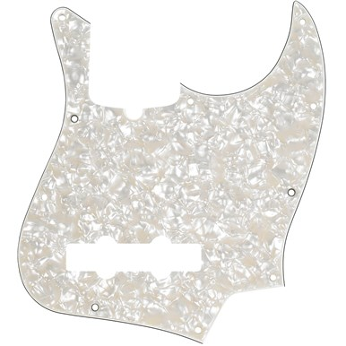 Pickguard Fender 10-Hole Contemporary Jazz Bass Pickguards - Aged White Pearloid