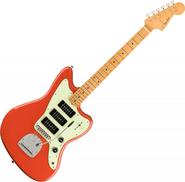 Guitare électrique solid body Fender Noventa Jazzmaster (MEX, MN) - Fiesta red