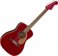 Guitare folk Fender Malibu Player - Candy apple red