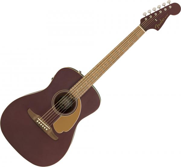 Guitare folk & electro Fender Malibu Player - Burgundy satin