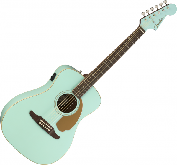 Guitare folk & electro Fender Malibu Player - Aqua splash