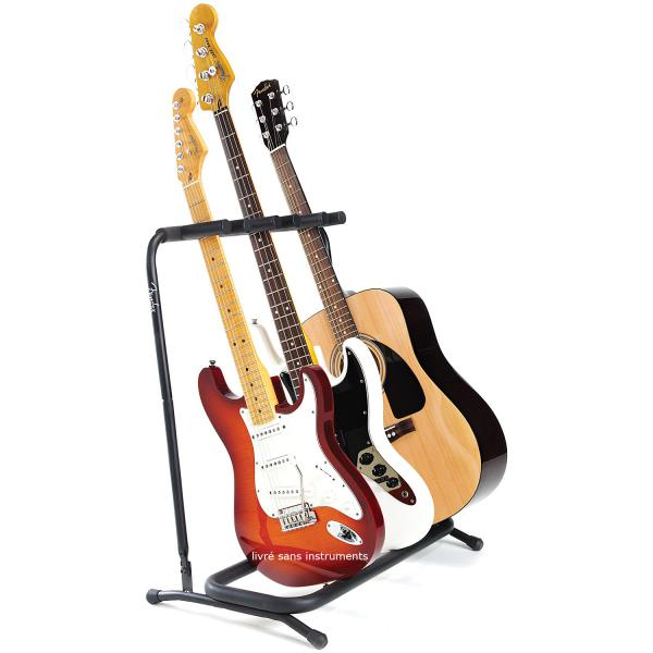 Stand & support guitare & basse Fender Multi Folding 3 Guitar Stand
