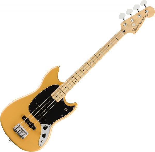 Basse électrique short scale Fender Player Mustang Bass PJ Ltd (MEX, MN) - Butterscotch blonde
