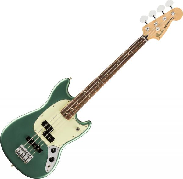 Basse électrique short scale Fender Player Mustang Bass PJ Ltd (MEX, PF) - Sherwood green metallic