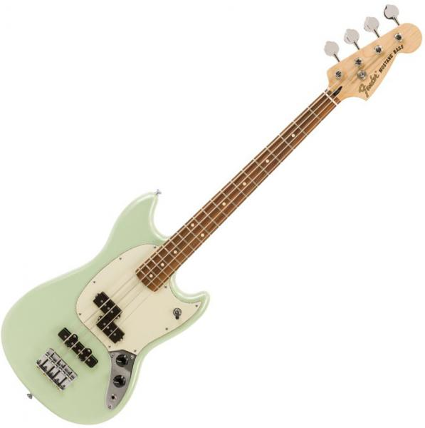 Basse électrique solid body Fender Player Mustang Bass PJ Ltd (MEX, PF) - Surf pearl