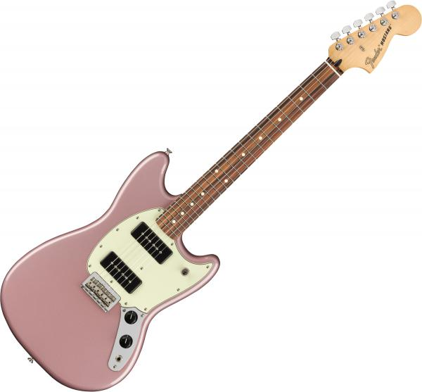 Guitare électrique solid body Fender Player Mustang 90 (MEX, PF) - Burgundy mist metallic