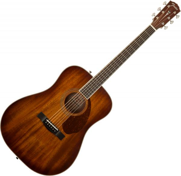 Guitare folk & electro Fender PM-1 Dreadnought All-Mahogany NE Paramount - Aged cognac burst
