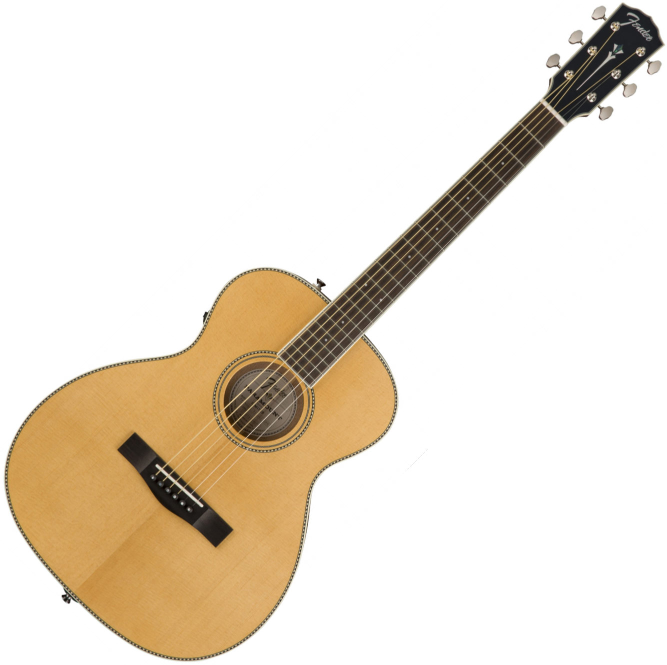 07671a40a97 Fender Paramount PM-TE Standard Travel +case - natural. Travel acoustic  guitar