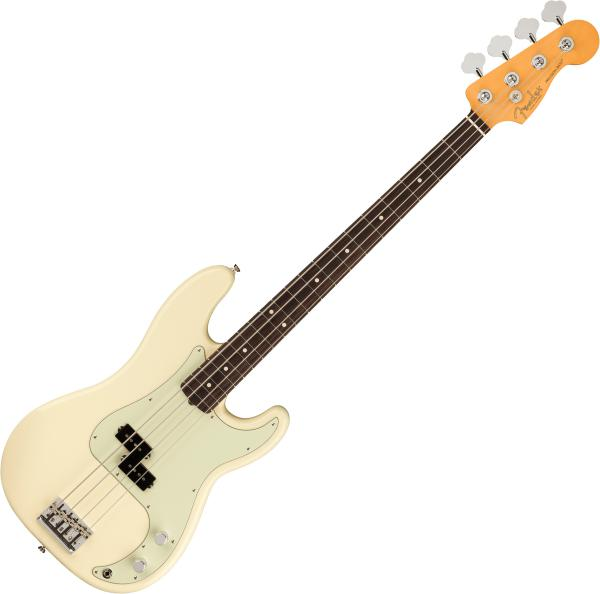 Basse électrique solid body Fender American Professional II Precision Bass (USA, RW) - olympic white