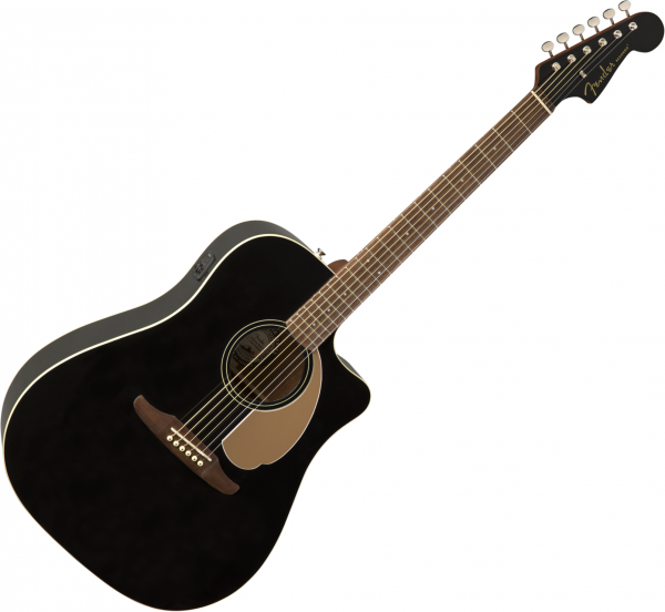 Guitare folk & electro Fender Redondo Player - Jetty black