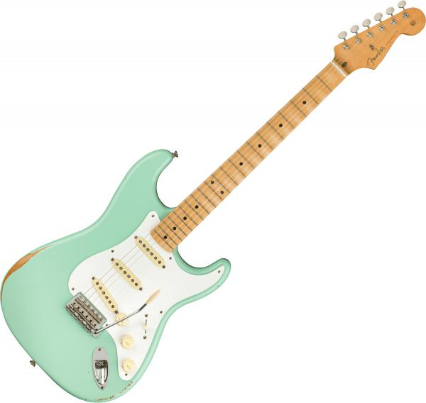 Guitare électrique solid body Fender Road Worn 50s Stratocaster (MEX, MN) - surf green