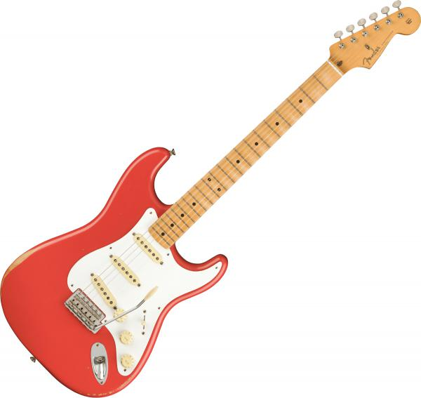 Guitare électrique solid body Fender Road Worn 50s Stratocaster (MEX, MN) - fiesta red