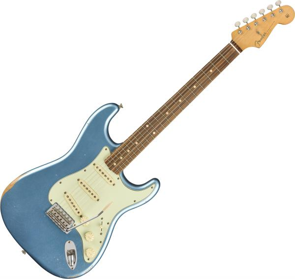 Guitare électrique solid body Fender Road Worn 60s Stratocaster (MEX, PF) - lake placid blue