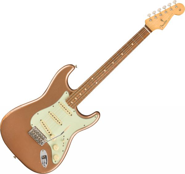 Guitare électrique solid body Fender Road Worn 60s Stratocaster (MEX, PF) - Firemist Gold