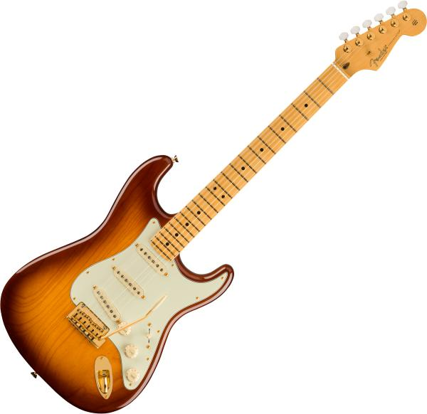 Guitare électrique solid body Fender 75th Anniversary Commemorative Stratocaster Ltd (USA, MN) - 2-color bourbon burst