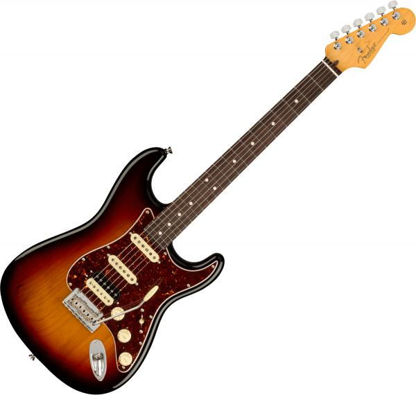 Guitare électrique solid body Fender American Professional II Stratocaster HSS (USA, RW) - 3-color sunburst