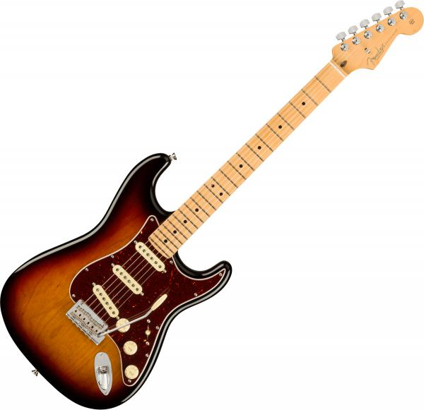 Guitare électrique solid body Fender American Professional II Stratocaster (USA, MN) - 3-color sunburst