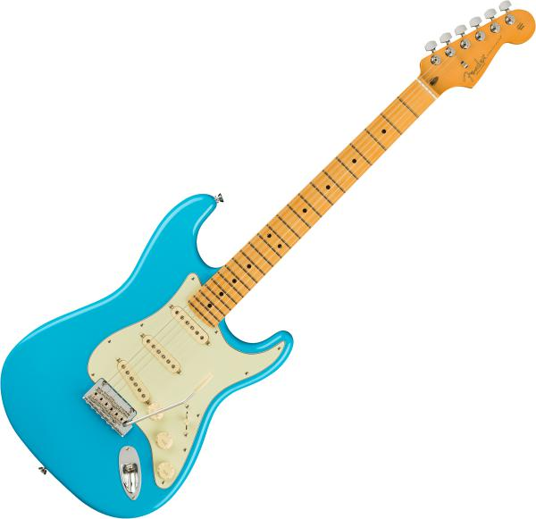 Guitare électrique solid body Fender American Professional II Stratocaster (USA, MN) - Miami blue