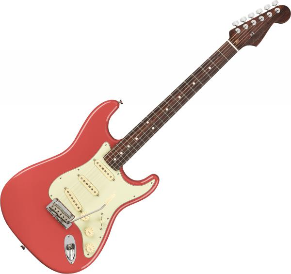 Guitare électrique solid body Fender American Professional Stratocaster Rosewood Neck Ltd (USA, RW) - Fiesta red