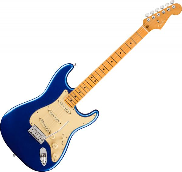 Guitare électrique solid body Fender American Ultra Stratocaster (USA, MN) - Cobra blue