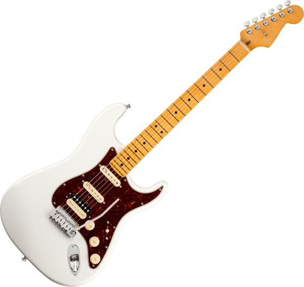 Guitare électrique solid body Fender American Ultra Stratocaster HSS (USA, MN) - Arctic pearl