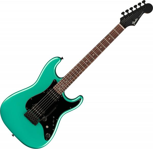 Guitare électrique solid body Fender Boxer Stratocaster HH (Japan, RW) - Sherwood green metallic