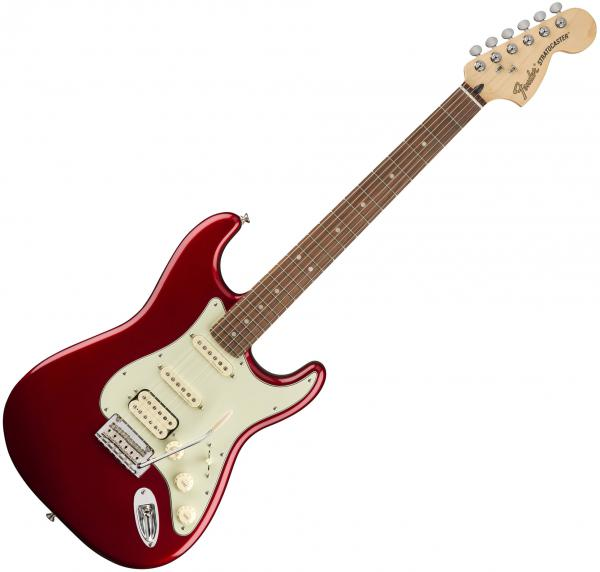 Guitare électrique solid body Fender Deluxe Strat HSS (MEX, PF) - Candy apple red