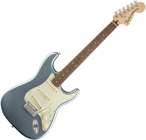Guitare électrique solid body Fender Deluxe Roadhouse Strat (MEX, PF) - Mystic ice blue