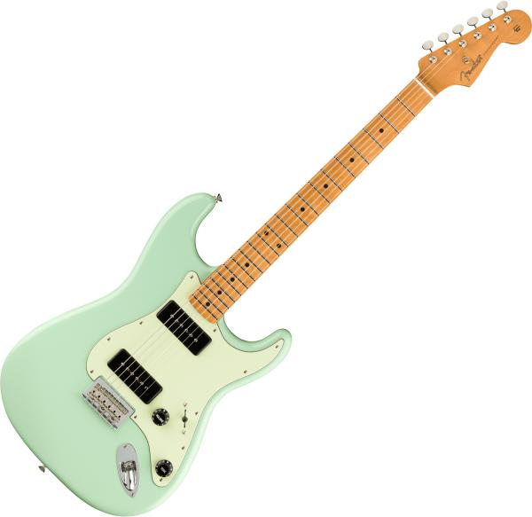 Guitare électrique solid body Fender Noventa Stratocaster (MEX, MN) - Surf green