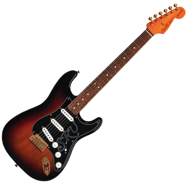 Guitare électrique solid body Fender Stratocaster Stevie Ray Vaughan (USA, PF) - 3-color sunburst