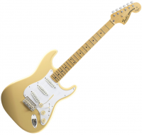 Guitare électrique solid body Fender Yngwie Malmsteen Stratocaster (USA, MN) - Vintage white
