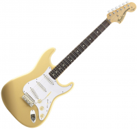 Guitare électrique solid body Fender Yngwie Malmsteen Stratocaster (USA, RW) - Vintage white