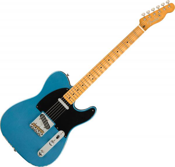 Guitare électrique solid body Fender Road Worn 50s telecaster (MEX, MN) - lake placid blue