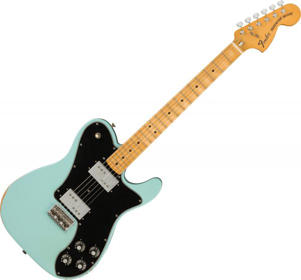 Guitare électrique solid body Fender Road Worn '70s Telecaster Deluxe (MEX, MN) - daphne blue