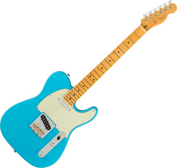 Guitare électrique solid body Fender American Professional II Telecaster (USA, MN) - Miami blue