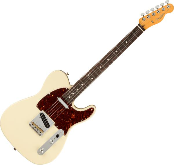 Guitare électrique solid body Fender American Professional II Telecaster (USA, RW) - Olympic white