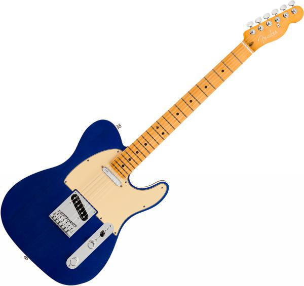 Guitare électrique solid body Fender American Ultra Telecaster (USA, MN) - Cobra blue
