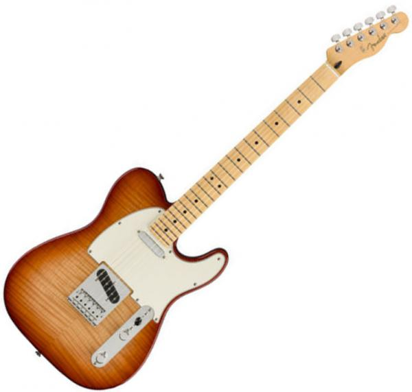 Guitare électrique solid body Fender Player Telecaster Plus Top (MEX, MN) - Sienna sunburst