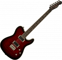 Guitare électrique solid body Fender Telecaster Korean Special Edition Custom FMT (LAU) - Black cherry burst
